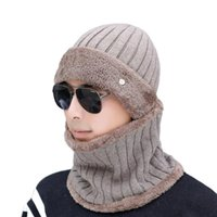 100% Men Wool Cashmere Hat Winter Hat Knitted Thick Skullies...
