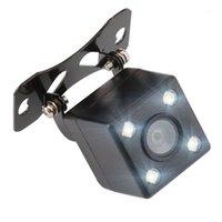 سيارة الرؤية الخلفية كاميرات مجسات وقوف السيارات الكاميرا العالمية 4 المصابيح للرؤية الليلية عكس مراقب السيارات CCD للماء 170 درجة HD الفيديو 1