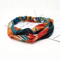 Tasarımcılar kadın bantları çilek ipek elastik headwraps hairbands yay saç aksesuarları retro türban kafa bandı spor çiçekler sinek kuşu orkide