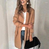 2019 여성 트렌치 봄 새로운 느슨한 솔리드 컬러 코트 여성 얇은 스타일 femme windproof 포켓 슬림 스트리트웨어 플러스 Size11