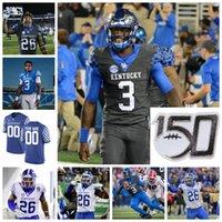 Kentucky Wildcats College Football Jerseys Tim Couch Christopher Rodriguez Jr. Lynn Bowden Jr. Terry Wilson Benny Snell Jr. Custom genittelt