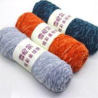 Fil mélangé en coton en soie 15 pcs pour tricoter à la main Soft Pull Foulard Chenille Fils Crochet 3.5mm nouveau 1ply T200601