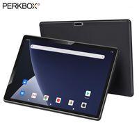 태블릿 PC Perkbox 10 인치 옥타 코어 4GB RAM 64GB ROM 5.0MP 카메라 5000mAh 배터리 4G LTE 안드로이드 9 파이 GPS 블루투스 Wi-Fi 패드 1