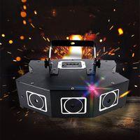 DMX512 LED STAGE LASER Eclairage Son activé 3 trous RGB Laser Laser Spotlight Disco Rotation Strobe Light pour KTV Bar Party