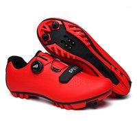Ciclismo calçados fibra carbono homens sapatos respirável triathlon mountain bike sneakers homem esporte estrada corrida bicicleta mtb spin fivle1