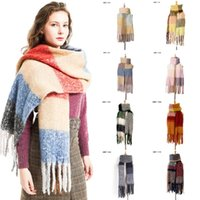 Fashion Braid Tassel Scarf Autumn Winter Shawls Women Pashmi...