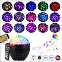 LED Färgglada musikljudkontroll Nattlampor USB Bluetooth-högtalare Crystal Magic Ball Light Stage Laser Light Laser Light