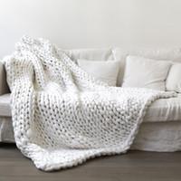 Мода рукой коренастый вязаный одеял толстая пряжа шерстяные полиэфирные громоздкие вязаные одеяла зимний мягкий теплый бросок падение