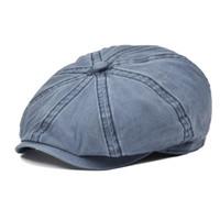 Sboy Şapkalar Voboom Pamuk Kap Mens Yaz Düz Kadın Güneş Koruma Boina Gatsby Hat 160