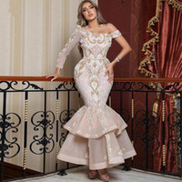 Saudi Arabia Mermaid Evening Dresses Lace One Shoulder Long Sleeves Prom Dresses Middle East Sexy Formal Party Gowns