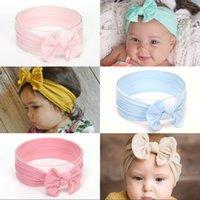 Nylon bébé cheveux accessoires élastiques enfants bandeau bow pure couleur pure cerceau multicolore BooMian style vente chaude 2 6ys J2B