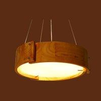 Подвеска Свет Вуд Абажур Освещение Потолочный светильник Современный висячие промышленной для спальни Бар Гостиная Освещение для дома