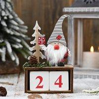 Новое Рождество деревянной сосна календарь конуса для пожилых украшения деревянного календаря Отсчета украшение T3I51337