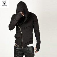 Großhandel-Männer Mode Sportswear 2016 Hot Marke Diagonale Reißverschluss Herren Assassin Creed Sweatshirt Hoodie Mode Design Für Männer Sportswear1