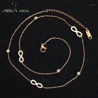 Nextvance Simple Cubic Zircon Long Chain Collier Trois tons Infinity Forever Forever Love Colliers pour Petite amie Cadeau d'anniversaire Colar1