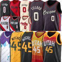Donovan 45 Mitchell Jersey Utahs Basquete Damian 0 Lillard Portlands Basketball Jerseys Carmelo John Anthony Stockton Jersey