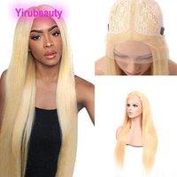 Pérou Human Hair Blond 13X6 en forme de T perruque de cheveux Vierge 13 Par 6 capless perruques Yirubeauty 100% Cheveux
