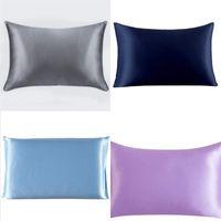 Multi Pure Color Billow Caso Cetim Software Square Polyster Home Sofá Cama de Cama de Cama Decoração Lance Almofadas 6 29nk L2