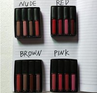 2020 Liquid Lipstick Kit The Red Nude Brown Pink Edition Mini Liquid Matte Lipstick 4pcs / set (4 × 1.9 مل)