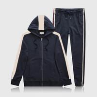 20ss Men Sportswear Hoodie и толстовки Черный Белый Осень зима Jogger Sporting Suit Mens Switch Suitsuits Set Plus Размер M-3XL