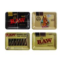 작은 크기의 129 종류의 흡연 롤린 트레이 금속 타바코 담배 약초 원시 롤링 서류 파이프 18cm * 12cm handroller