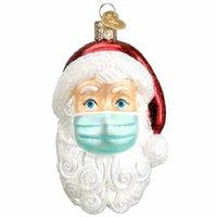 Weihnachtsharzdekoration 2020 Pandemie Überlebende Neue Weihnachtsbaum Schneemann Epidemie Hängende Anhänger Santa Mask