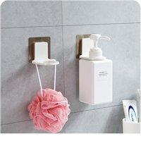 새로운 욕실 샴푸 샤워 젤 병 홀더 선반 행거 벽 마운트 스탠드 흡입 컵 매달려 슈퍼 suc jllcxy