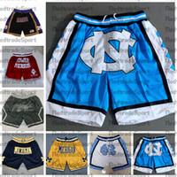 NCAA North Carolina Tar Heels Basquetebol Shorts Apenas Mens Don Michigan Wolverines Black Mamba Merion Miss High School Calças de bolso