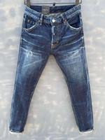 Jeans occasionnels occasionnels de la mode italiennes et américaines, lavée haut de gamme, polie à la main, qualité optimisée LA021-1