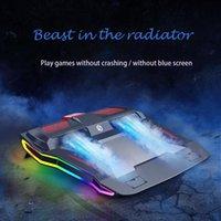 2020 Nouveau RVB Gaming Laptop Cooler réglable pour ordinateur portable 3000 RPM puissant débit d'air bloc de refroidissement pour ordinateur portable 12-17 pouces