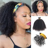 Kinky завитые Nano Ring I Кончик Наращивание волос Natural Black цвет Virgin бразильский Prebonded Nano Bead I-наконечник для волос 100г