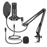 Alto-falantes de livros Condensador Microfone Microfone Computador Kit com suporte de braço ajustável Montagem para YouTube Live Streaming1
