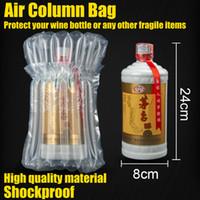 Weinflasche Protector Aufblasbare Luftsäulen-Taschenflasche Bubble Wrap Air Dunnage Verpackungsbeutel für den sicheren Versand von Glasflaschen