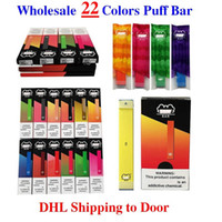 Puff Bar Factory Оптовая DHL Ship 22 Цвета 300+ Одноразовые Puff Puf Tape Peen Pod Kit E-CIG Предоплата Paape Liquid 280MAH 1,3 мл