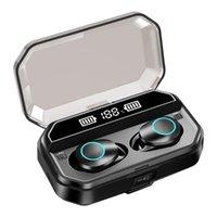 X6 TWS Fone de Ouvido Sem Fio Bluetooth 5.0 Fones de ouvido IPX7 À Prova D 'Água Impermeável Imprima Touch Fone de Ouvido 3000 MAH com lanternas