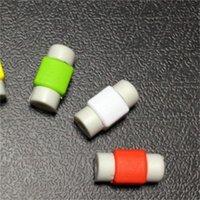 Мобильный зарядное устройство USBCOVER Компьютерная линия конфеты Candy Color Phone ProtetiveCase Block Clibleicone Wireorganizer Originality Hot Sale 0 08ys F2