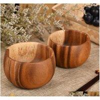 Ciotola in legno massello Antiscivolo / isolamento termico / Tenere calda legno artigianale in legno SQCVUJ Toys2010
