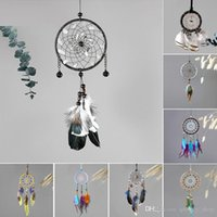 8 Designs Vintage Handmade Dreamcatcher Net with Feather Pen...