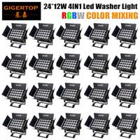 Gigertop 20 وحدة LED الاسمية 24x12W RGBW مع DMX512 لنادي ديسكو DJ الصوت المنشط ديسكو الكرة ضوء المرحلة وميير عيد الميلاد العارض