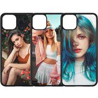 2 em 1 2D TPU PC em branco sublimação casos de telefone cobre para iphone 11 12 pro max caso para sublimar