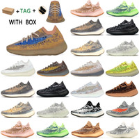 2021 Kanye West adidas yeezy boost 380 v3 Top  yezzy yeezys Factory yecheil Quality Men Sneakers Alien Mist Black Camo chaussures Women Running Shoes Receipt Socks Keychains