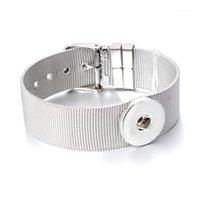 Bracelets de charme Unisexe Interchangeable Snap Bijoux Pulseras 18mm Snaps Button Bouton Bracelet en acier inoxydable pour femme ZE3161