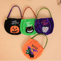 Halloween For Cartoon Pumpkin Witch Gift Bottom Decoration Tote Trick Or Round 2Pcs Bag Halloween Children Party Bag Cute Treat Sictc