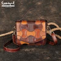 Cobbler Legend 2020 Frauen Echtes Leder Handtasche Vintage Schulter / Crossbody Tasche Kleine Dame Geldbörsen Designer Sommer Sling Taschen