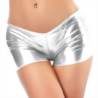 Sexy Low Waist PU Leather Shiny Performance Dancing Calcinha...