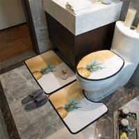 Ванная комната Классические коврики без скольжения фруктовый узор двери ковра анти-забитый универсальный высококачественный отель люкс туалет