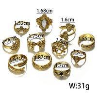 Pretty Vintage Knuckle Anelli splendidamente Elephant Crystal Wedding Ring Set Donne Bohemian Midi Finger Anelli Punk