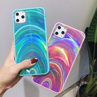 3D Gökkuşağı Glitter Kılıf iphone 12 Mini 11 Pro Max Samsung S20 Artı Ultra S10 Not 10 20 A10 A71 A51 J6 J8 A11 M30S M21 J4 A7 A6 A20S