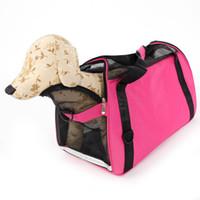 Forniture per cani Hollow-out Borsa per animali domestici impermeabile traspirante portatile Rose Red L Carrier