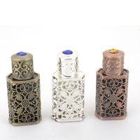 3ml Arabische Legierung Parfüm Flasche arabische Attarglas ätherische Ölflaschenbehälter mit Handwerk Dekoration WB3242